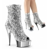 DELIGHT-1008SQ Silver Sequin/Chrome